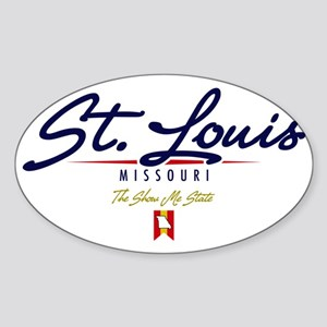 St Louis Script W Sticker (Oval)