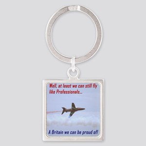 Red Arrows Square Keychain