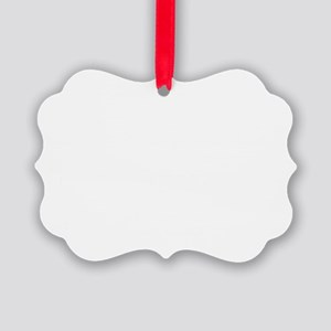 Spanish Cow White text Picture Ornament