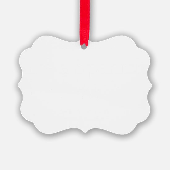 Spanish Cow White text Ornament