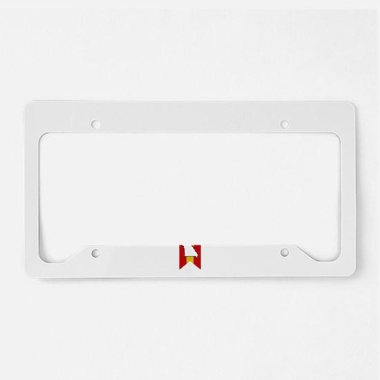 St Louis Script B License Plate Holder