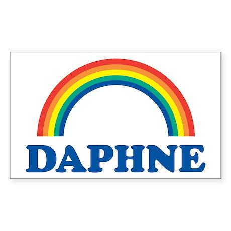DAPHNE (rainbow) Rectangle Sticker
