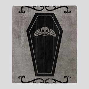 coffin_gray_12x18v Throw Blanket