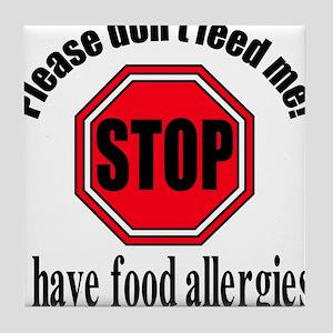 Food Allergies 1 Tile Coaster