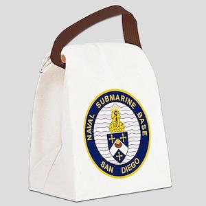 NAVAL SUBMARINE BASE San Diego CA Canvas Lunch Bag