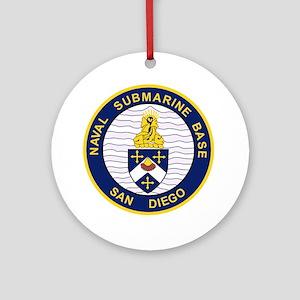 NAVAL SUBMARINE BASE San Diego CA M Round Ornament