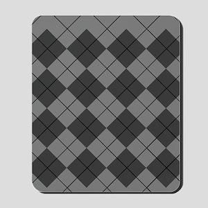 Black Gray Argyle Flip Flops Mousepad