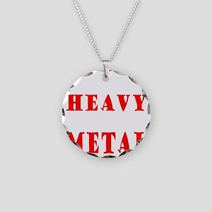 heavymetal Necklace Circle Charm