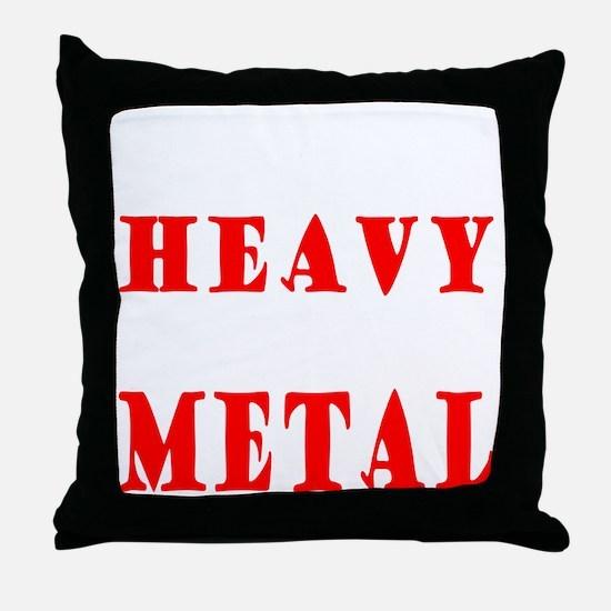heavymetal Throw Pillow