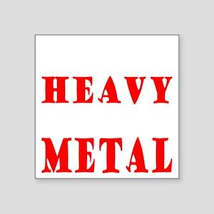 "heavymetal Square Sticker 3"" x 3"""