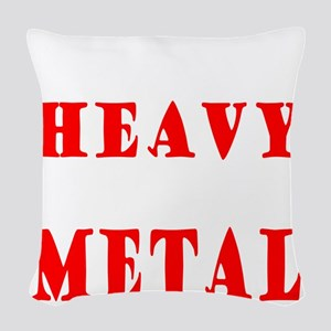 heavymetal Woven Throw Pillow