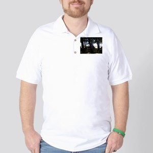 Sheep in Wood Golf Shirt