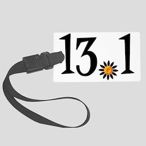 13.1 with orange flower Large Luggage Tag