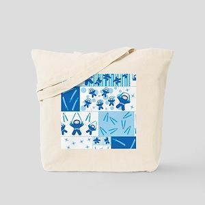 blue_ninja_fabric Tote Bag