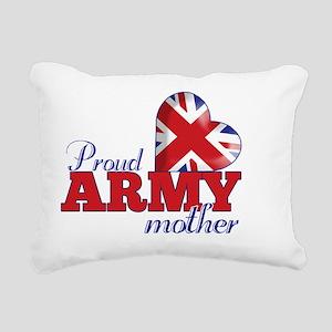 Proud Army Mother Rectangular Canvas Pillow