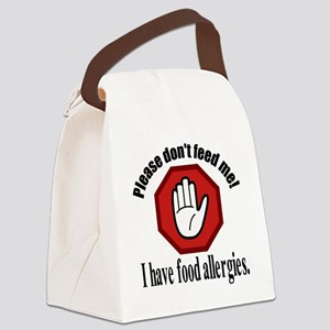 Food Allergies 2 Canvas Lunch Bag