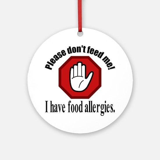 Food Allergies 2 Round Ornament