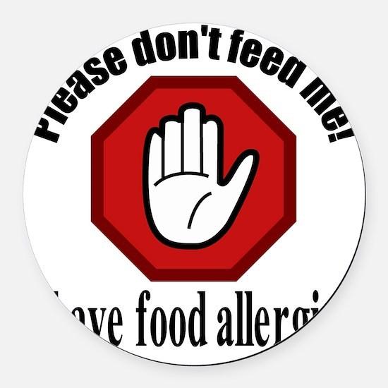 Food Allergies 2 Round Car Magnet