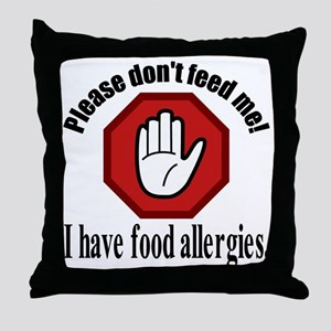 Food Allergies 2 Throw Pillow