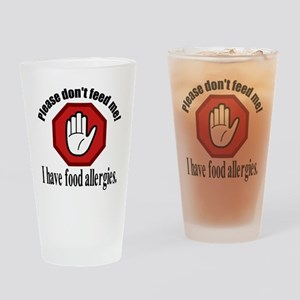 Food Allergies 2 Drinking Glass