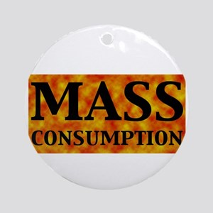 mass_black Round Ornament