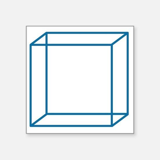 """cube2 Square Sticker 3"""" x 3"""""""