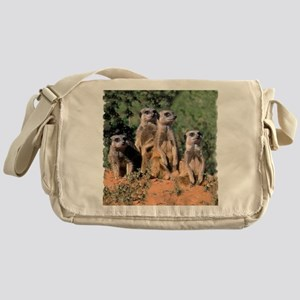MEERKAT FAMILY PORTRAIT stadium blan Messenger Bag