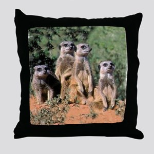 MEERKAT FAMILY PORTRAIT stadium blank Throw Pillow