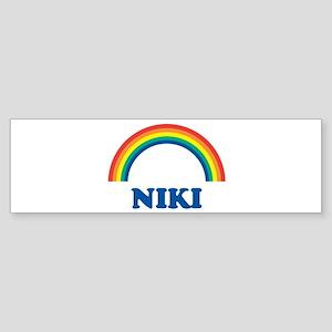 NIKI (rainbow) Bumper Sticker
