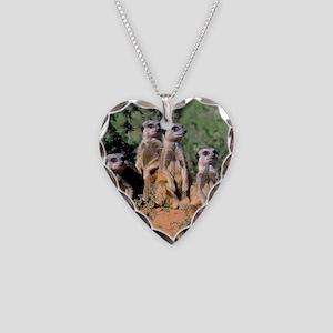 MEERKAT FAMILY PORTRAIT stadi Necklace Heart Charm