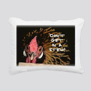 Mad Chicken Rectangular Canvas Pillow