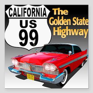 "99-CA-Christine-10 Square Car Magnet 3"" x 3"""