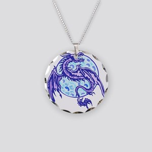 dragon Necklace Circle Charm