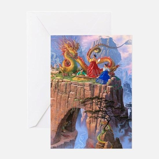 Dragon Serenade Greeting Card