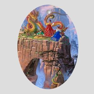 Dragon Serenade Oval Ornament