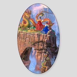 Dragon Serenade Sticker (Oval)