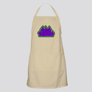 Spooky Castle in Purple and Green. Apron