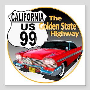 "99-CA-Christine-C10trans Square Car Magnet 3"" x 3"""