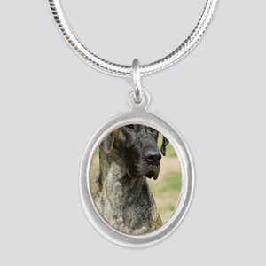 Great Dane 9R016D-135_2 Silver Oval Necklace