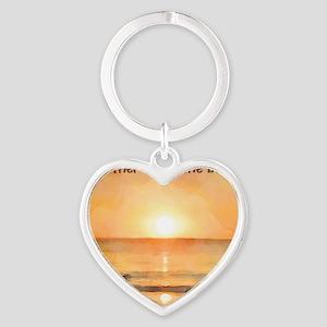 RatherBeAtBeach Heart Keychain