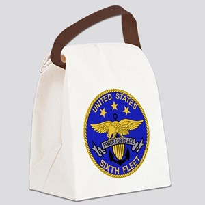 SIXTH FLEET US Navy Military PATC Canvas Lunch Bag