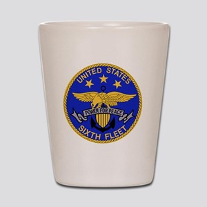 SIXTH FLEET US Navy Military PATCH Shot Glass