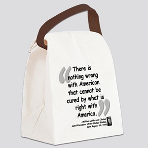 Clinton America Quote Canvas Lunch Bag