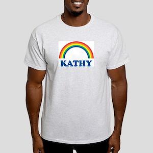 KATHY (rainbow) Ash Grey T-Shirt