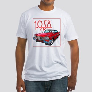 1958 Plymouth Belvedere-10 Fitted T-Shirt