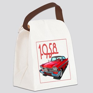 1958 Plymouth Belvedere-10 Canvas Lunch Bag