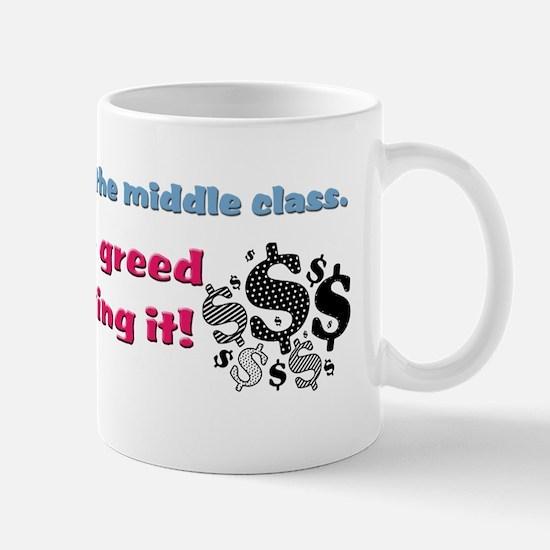corporate greed Mug