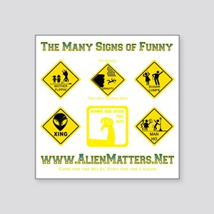 """Many-Signs Square Sticker 3"""" x 3"""""""