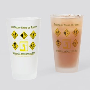 Many-Signs Drinking Glass