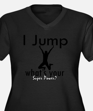 jump1 Women's Plus Size Dark V-Neck T-Shirt